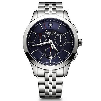 Victorinox Swiss Army Alliance Chronograph Blue Dial Silver Stainless Steel Bracelet Men's Watch 241746 RRP £520