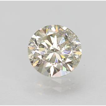 Certified 0.87 Carat I SI1 Round Brilliant Enhanced Natural Loose Diamond 6.17mm