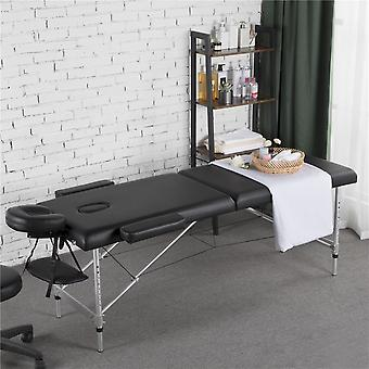 Lichtgewicht opvouwbare massage tafel draagbare salon couch bed professionele beauty tattoo therapie tafel verstelbaar 2 sectie