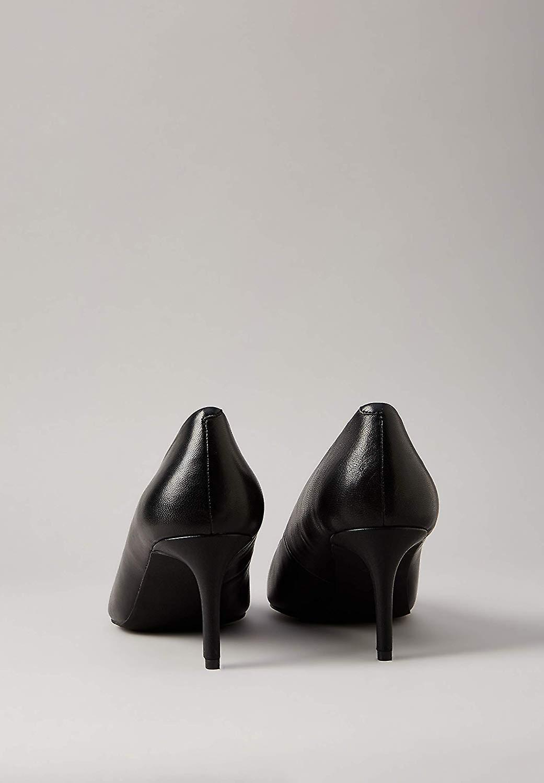 Brand - find. Women's Mid Heel Leather Pumps Black), US 8.5 mIi4U