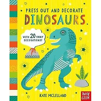 Press Out and Decorate Dinosaurs