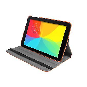 """PU funda de cuero 360 rotación para LG G Pad V700 10.1""""[Orange]"""