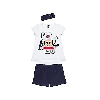 Alouette Girls' Paul Frank T-Shirt Set With Shorts And Ribbon