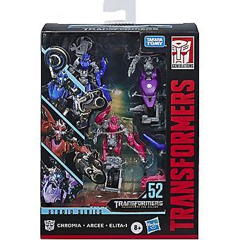 Transformers Arcee, Chromia, Elita-1 Deluxe 3 Pack Studio Series Figure Set