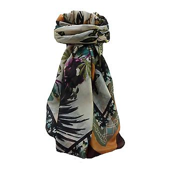 Mulberry Silk Contemporary Square Scarf Floral F241 by Pashmina & Silk