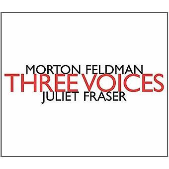 Morton Feldman - Three Voices - Juliet Fraser [CD] USA import