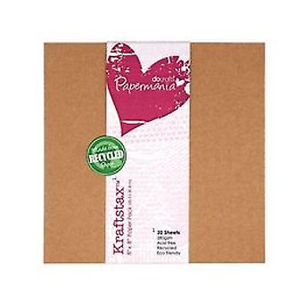 Papermania 8x8 pulgadas Kraftstax (20pk) (PMA 160600)