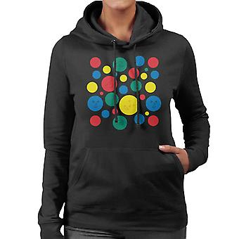 Twister Mat Circles And Faces Women's Hooded Sweatshirt