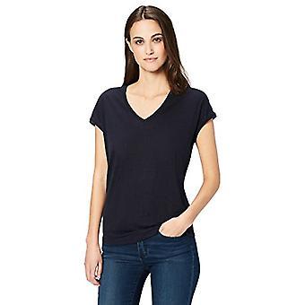 Brand - Daily Ritual Women's 100% Lino a maniche corte V-Collo T-Shirt, N...