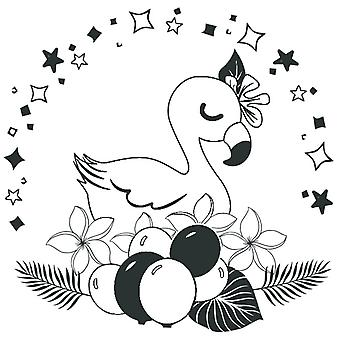 Aladine Rubber Stamp Baby Flamingo
