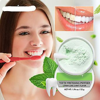 Teeth Whitening Powder -tangy Lemon Lime Hygiene Dental Tooth Cleaning Remove Tartar Safe Protect Bright Teeth