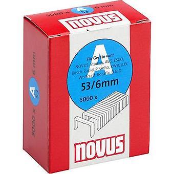 Type 53 fine wire staples 5000 pc(s) Novus 042-0516 Clip type 53/6 Dimensions (L x W) 6 mm x 11.3 mm