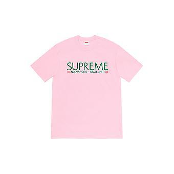 Supreme Nuova York Tee Light Pink - Kleidung