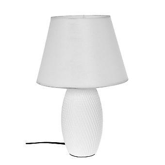 Table de lampe en céramique blanche H39 cm