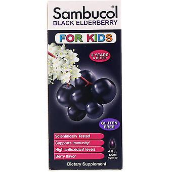 Sambucol, Sirop de sureau noir, Pour enfants, Saveur de baies, 4 fl oz (120 ml)