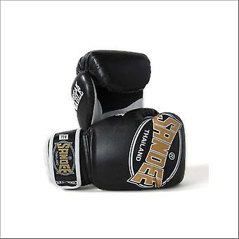 Sandee cool-tec kids muay thai boxing gloves - black-gold