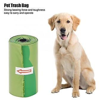 Green Thicken Plastic Durable Cleaning Waste Garbage Bags For Pet Dog Cat