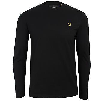 Lyle & scott men's jet black long sleeve t-shirt