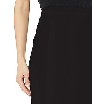Daily Ritual Women's Terry Cotton and Modal Pencil Skirt, Black, XS