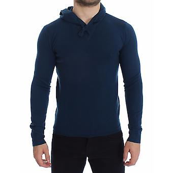 Dolce & Gabbana Blue Cashmere Hooded Sweater Pullover Top SIG12791-1