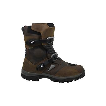 FORMA Mens ADVENTURE Leather Almond Toe Mid-Calf Motorcycle Boots