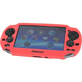 Soft silicone skin protector cover bumper grip case for sony ps vita 1000 & red