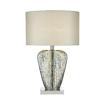 Syracuse Gold And Polished Chrome 1-light Table Lamp