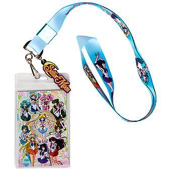 Sailor Moon och vänner ID Badge och Charm Lanyard