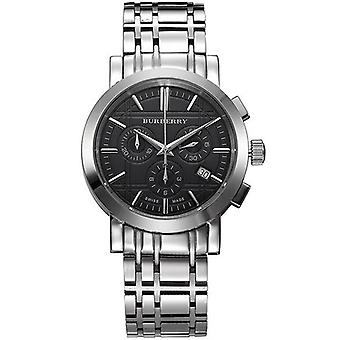Burberry BU1366 Chronograph Stainless Steel Case and Bracelet Black Mens Watch