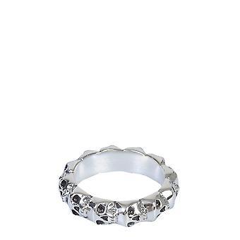 Northskull 62rgz147silver Men's Silver Steel Ring