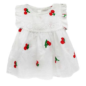Baby Clothes- Summer Baby Dress Frill Sleeve, Newborn Infant Dresses Cotton
