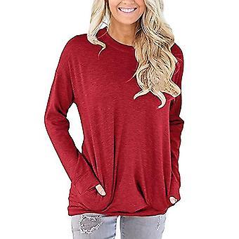 Koszula z długim rękawem z kieszeniami Czerwony (S)