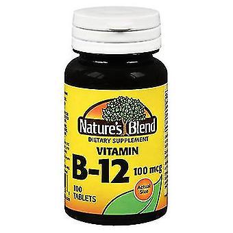 Nature's Blend Vitamin B12 Tablets, 100 mcg, 100 Tabs