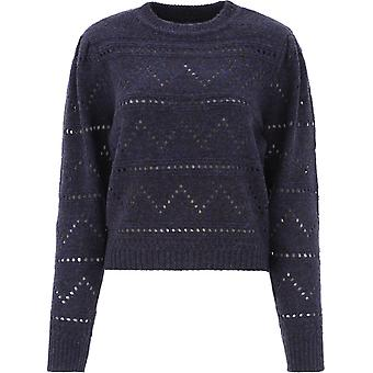 Isabel Marant ÉToile Pu133020a003e30mi Women's Blue Wool Sweater