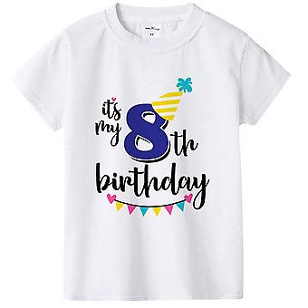 Kids, Summer Birthday, Short Sleeved T Shirt Set