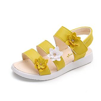 "Girls Sandals Gladiator Flowers Sweet Soft""s Beach Shoes -  Kids Summer Floral"