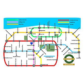 Wacky Metro Map Bo'ness by Wacky Metro