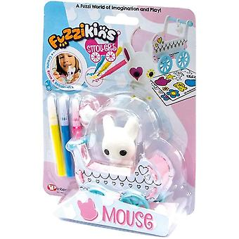Fuzzikins fuzzi baby mouse and decorate their stroller and toy, for age 4 years