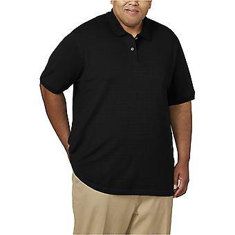 Essentials Men's big & tall Cotton Pique Polo Shirt fit von DXL, schwarz,...