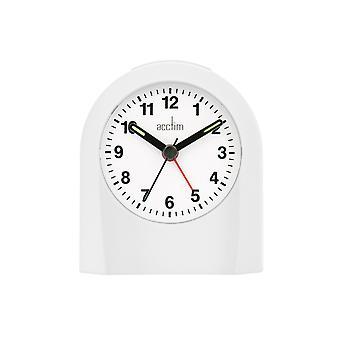 Acctim Palma Alarm Clock White 15062