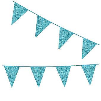 Flaggirlang - France | Vimpelgirlang - France | Pennant Baby bleu avec glitter - 6 m.