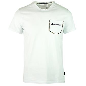 Aquascutum Check Trim Pocket White T-Shirt