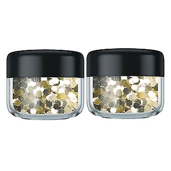 VO5 Style Edit Colored Hair Glitter - Or galactique - 2pk