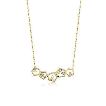 Honeycomb guld halsband