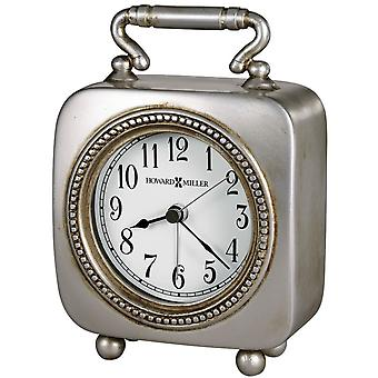 Howard Miller Kegan Tabletop Clock - Antique Pewter