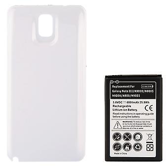 6800mAh Remplacement batterie de téléphone mobile & Porte arrière de couverture pour Galaxy Note III / N9000 (Blanc)