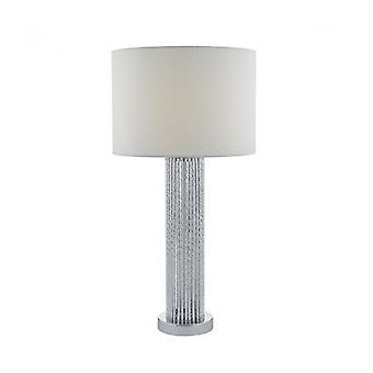 Lazio Silber und weiß 1-Licht Tischleuchte