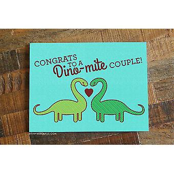 Cute Dinosaur Wedding Card