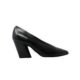 Halmanera Rose07black Women's Black Leather Pumps