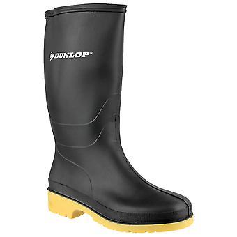 Dunlop barn tråkiga wellington stövlar svart 22233